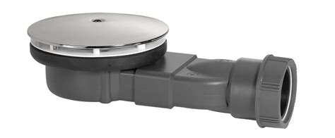 P Trap Bathroom Sink - wirquin 90mm slim shower waste waterless membrane