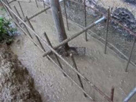 fundament für garage beim betonieren hier kleines fundament beachten