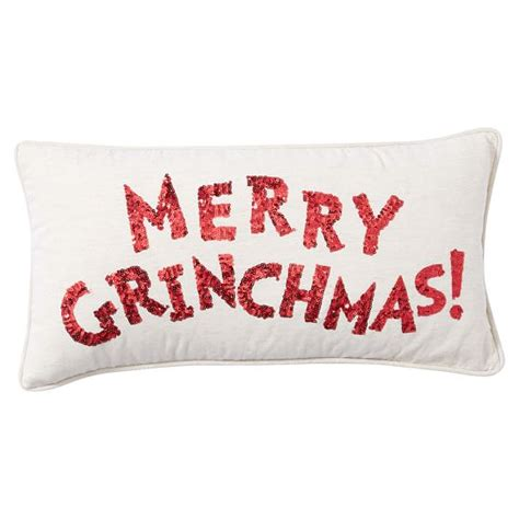 Merry Pillow by Merry Grinch Pillow Cover Pbteen
