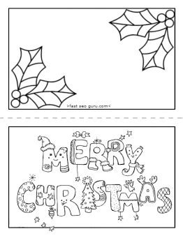 coloring pages for christmas cards printable merry christmas card coloring page for kids