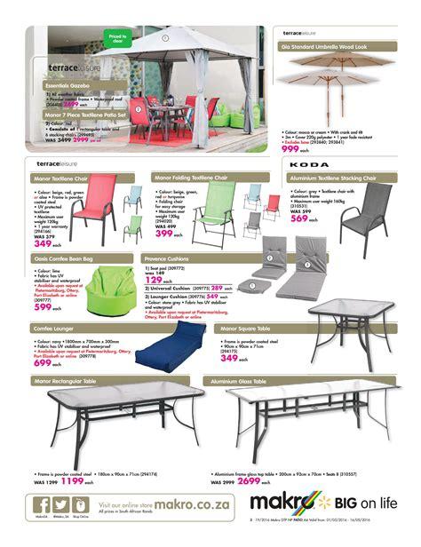 makro catalogue 1 may 16 may 2016 patio furniture