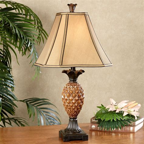 Gold Leaf Home Decor haina tropical pineapple table lamp with cfl bulb