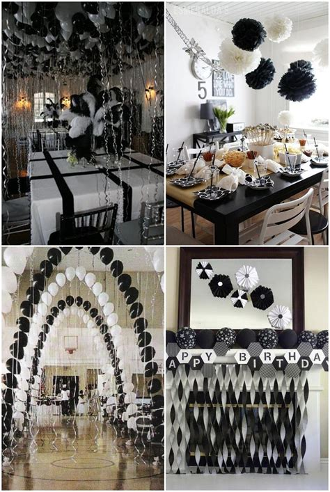 black  white graduation party ideas father daughter dance decor ideas   white party