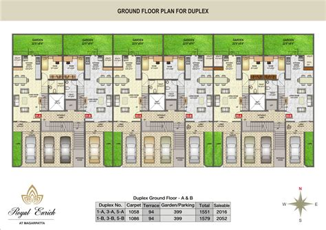row house floor plans about project royal enrich at magarpatta royal