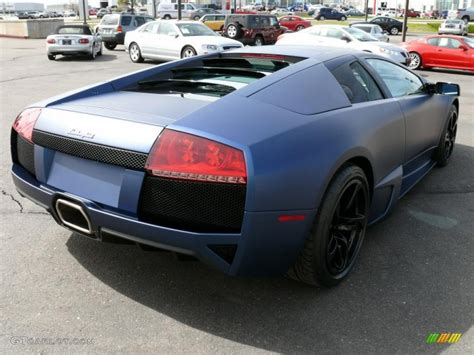 Lamborghini Farben by 2009 Matte Blue Lamborghini Murcielago Lp640 Coupe