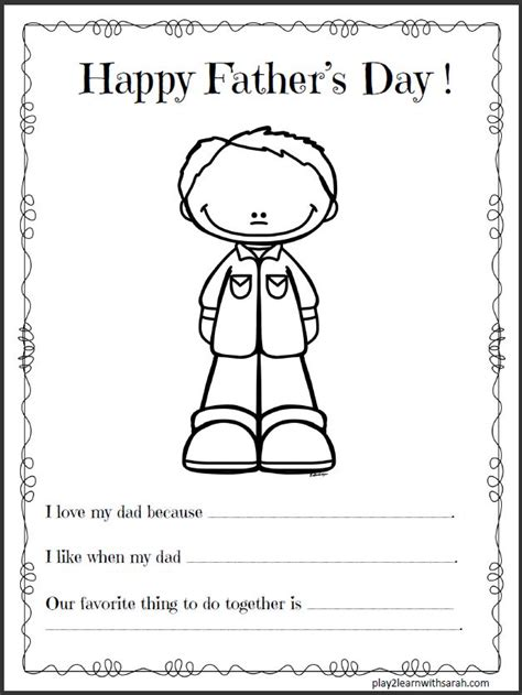 free printable fathers day cards template 12 1 s day craft ideas and thyme