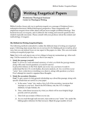 writing an exegetical paper exegesis paper fill printable fillable blank