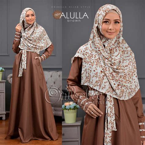 Dress Syari Khimar Gamis dress syari setelan gamis khimar new alulla hijabpop