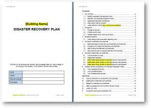 Building Site Plan Template by Disaster Recovery Plan Template The Continuity Advisor