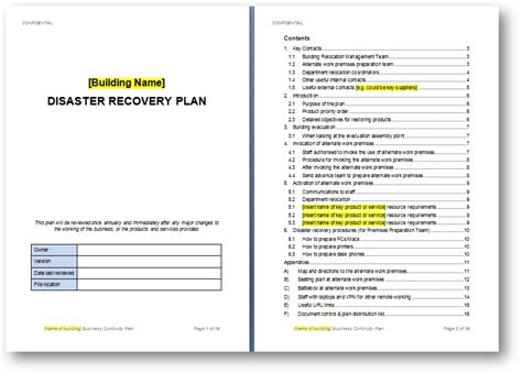 recovery plan creating a disaster preparedness plan to