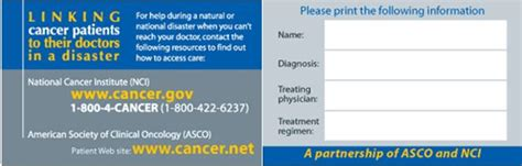 association of clinical research professionals acrp business card template emergency resources for the cancer community national