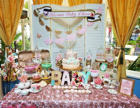 vintage retro baby shower quot shabby chic tea party candy