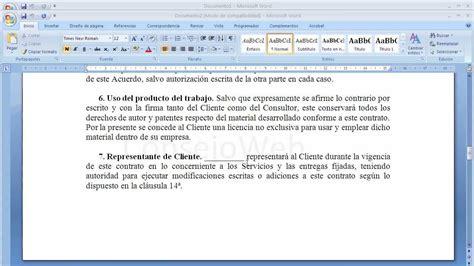 modelo de contrato de una sociedad civil crear empresas como hacer un contrato en word 2007 2010 youtube