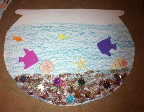 Paper Fish Bowl Craft - dr seuss one fish two fish paper fish bowl craft