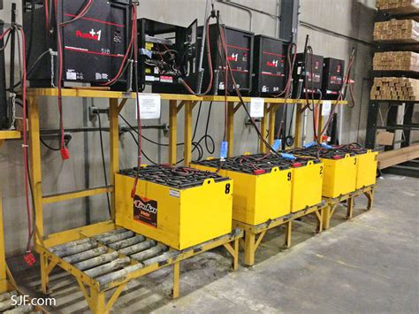 Change Racking by Used Forklift Batteries Forklift Battery Chargers Sjf