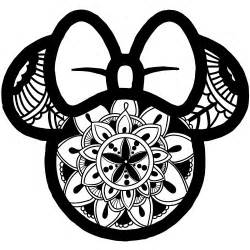 Mickey And Minnie Wall Stickers quot minnie mouse mandala quot by juicycreations redbubble
