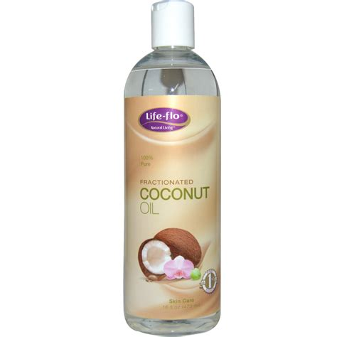 skin coconut flo health skin care fractionated coconut 16 fl oz 473 ml iherb