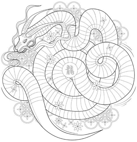 coloring pages for adults japan 264 best adult colouring dragons lizards snakes