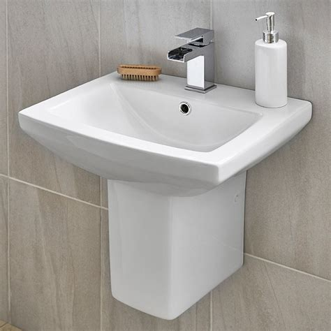 Basin Home Banking by Tabor 560mm Basin And Semi Pedestal