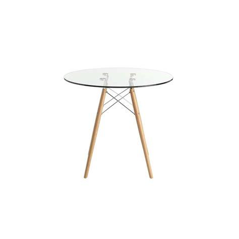 mesas comedor redonda mesa de comedor redonda eames 70cm cristal transparentete