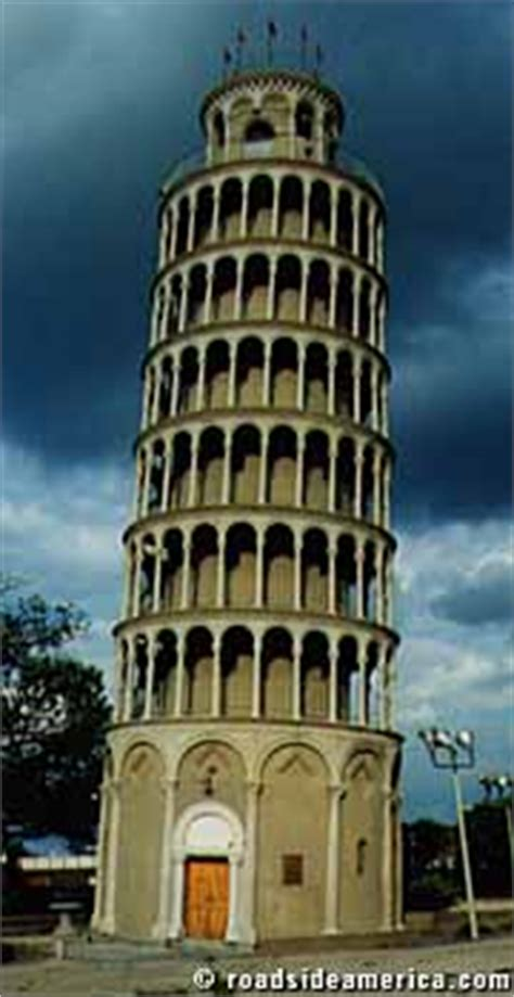 leaning tower  niles niles illinois