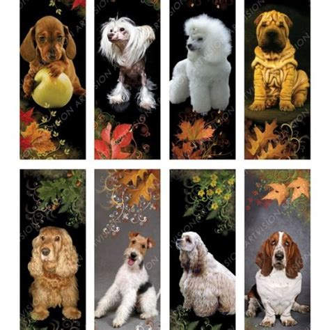 printable bookmarks dogs dogs bookmarks or tags digital images download and print