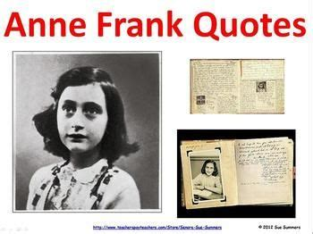 anne frank biography powerpoint anne frank quotes classroom signs powerpoint