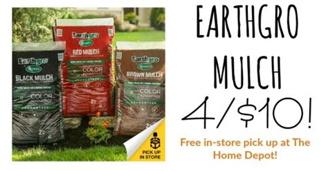 home depot earthgro mulch 4 10 fabulessly frugal