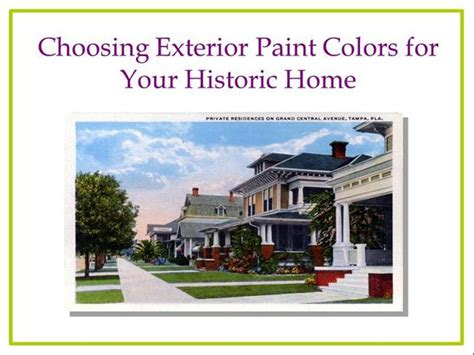 choosing exterior paint colors for your historic house authorstream