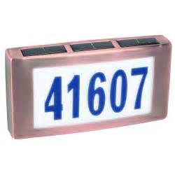 solar lighted address plaques solar led light house address numbers plaque sign