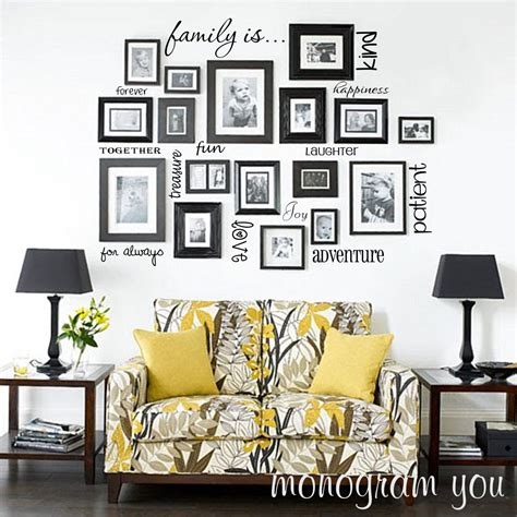 words for walls decor family wall words vinyl decals set of 14 words