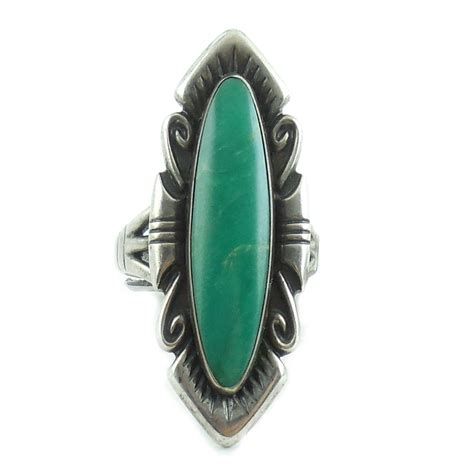 vintage american sterling silver turquoise ring size 8