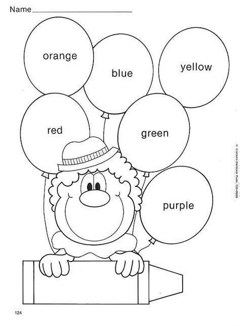 imagenes de ingles para colorear actividades infantiles para pintar y aprender los colores