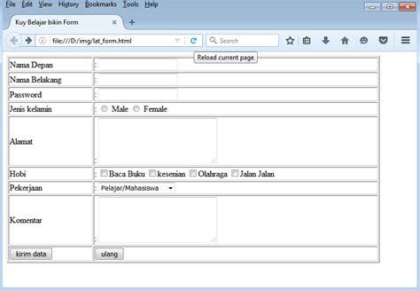 belajar membuat form pada html cara membuat form di html kuy belajar