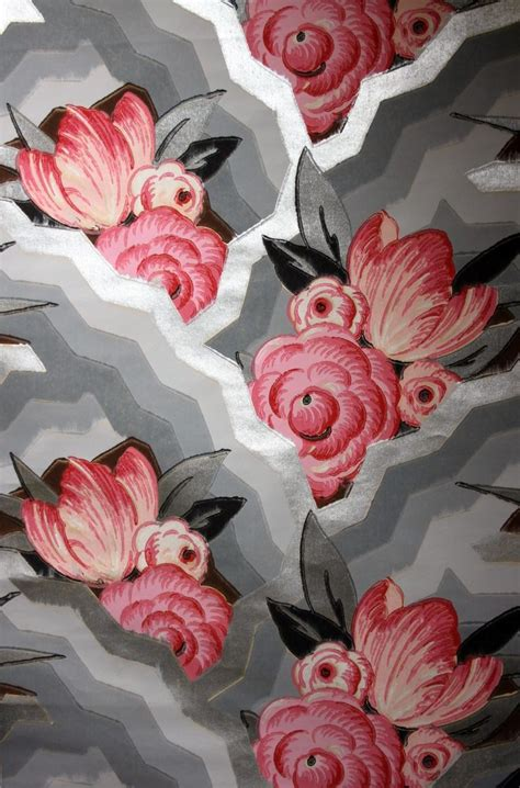 wallpaper design styles in 1930 1930s wallpaper pink flower pretty patterns 1930s art