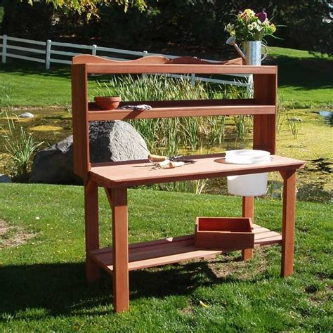 outdoor potting bench plans cedar wood potting bench potting bench garden potting