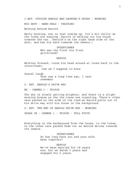 the room script script for the tale documentary
