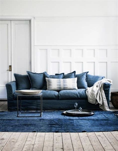 Living Room With Blue Sofa Best 25 Denim Sofa Ideas On