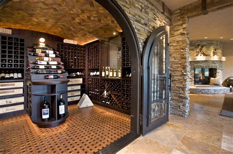 luxurious wine room rustic wine cellar minneapolis