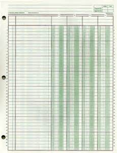 Bookkeeping Paper Template by Cost Accounting