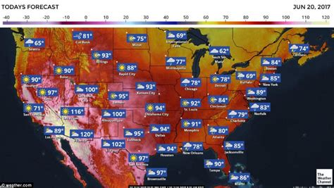 southwest us to suffer from heatwave daily mail