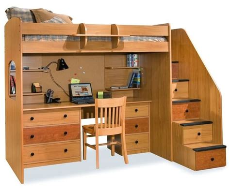 stair loft bed with desk 24 designs of bunk beds with steps these