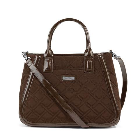 Satchel Bag by Vera Bradley Microfiber Trimmed Trapeze Satchel Bag Ebay