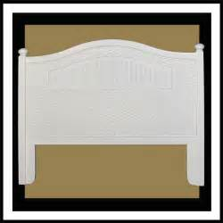 white cottage headboard cottage wicker headboard white whitewash antique brown