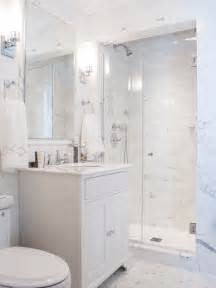 White Bathroom Design Ideas white cabinets an alcove shower a two piece toilet white tile and