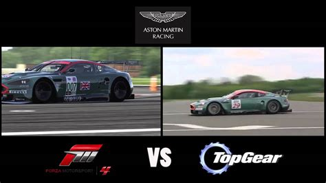 aston martin dbr9 top gear forza motorsport 4 vs top gear aston martin racing dbr9