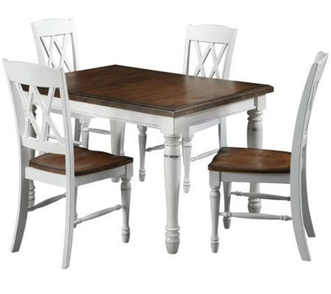 Qvc Dining Room Set Home Styles Monarch Dining Table And 4 Chairs H366477