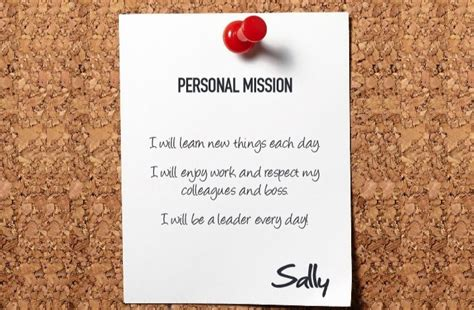 5 steps to build a personal mission statement 187 leaderonomics
