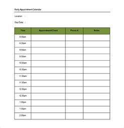 Appointment Template appointment schedule template 8 free word excel pdf