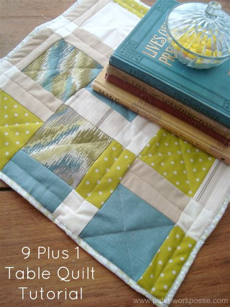 Patchwork Tutorials - 9 plus 1 table quilt tutorial